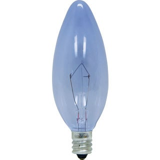 GE Lighting 48714 60 Watt Reveal Decorative Blunt Candelabra Bulbs 2-count