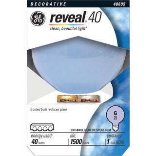 GE Lighting 48695 Reveal Globe Light Bulb