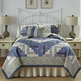 Nostalgia Home Olivia Blue Cotton Quilt (Only)