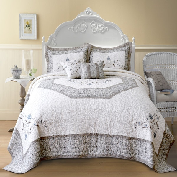 The Gray Barn Drum Cloondance Cotton Bedspread