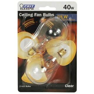 Feit Electric BP40A15C/CL/CF 40 Watt Clear Ceiling Fan Bulb 2-count