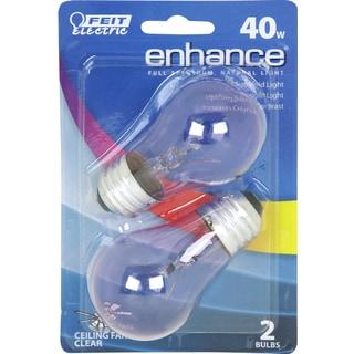 Feit Electric BP40A15/D/CF 40 Watt Enhance Clear Appliance Light Bulb