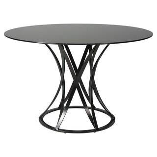 Valentijn Matte Black Round Dining Table