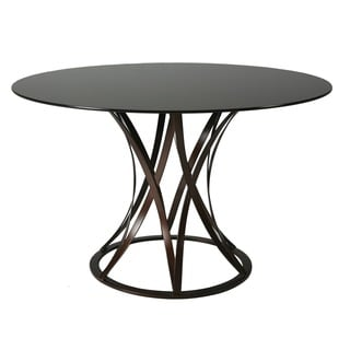 Valentijn Round Dining Table in Coffee Brown