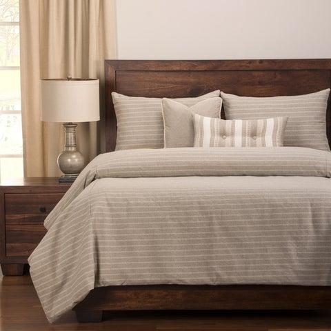 Strick & Bolton Stom Ticked Stripe 6-piece Cotton-blend Duvet and Comforter Insert Set
