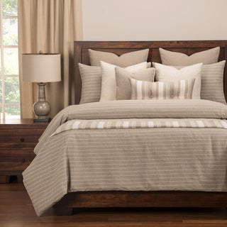 Strick & Bolton Stom Ticked Stripe 6-piece Cotton-blend Duvet and Comforter Insert Set