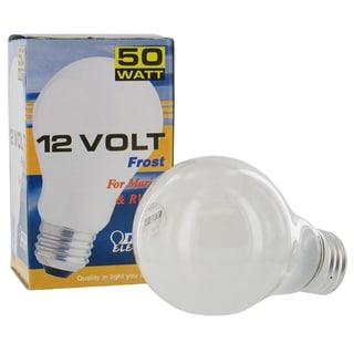 Feit Electric 50A-12-RP 50 Watt 12 Volt Frosted Rough Service Light Bulb