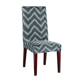 Sure Fit Stretch Plush Chevron Standard Dining Room Chair Cover