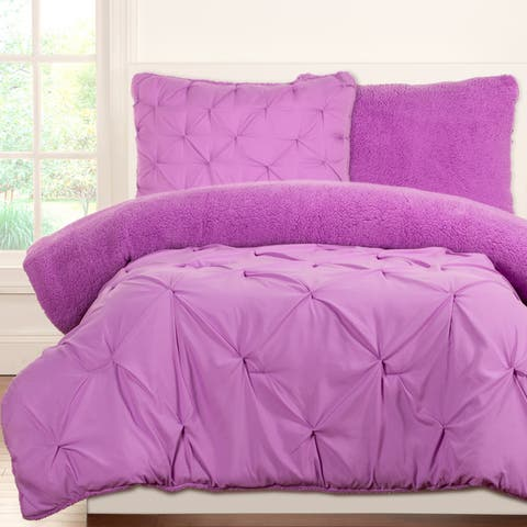 Crayola Playful Plush Pintucked 3-piece Comforter Set