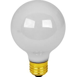 Feit Electric 25G25/W/RP 25 Watt White Bath & Vanity Globe Light Bulb