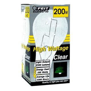 Feit Electric 200A/CL High Wattage Incandescent Light Bulb 200 Watt
