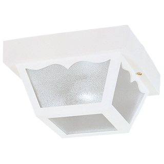 "Westinghouse 6697500 8-1/4"" White Square Exterior Porch Light"