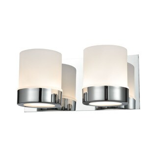 Alico Mulholland 2-light Vanity in Chrome and Opal Glass