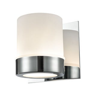 Alico Mulholland 1-light Vanity in Chrome and Opal Glass