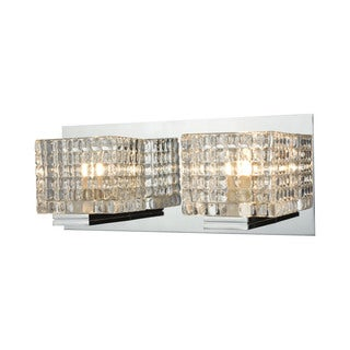 Alico Chastain 2-light Vanity in Chrome and Clear Glass