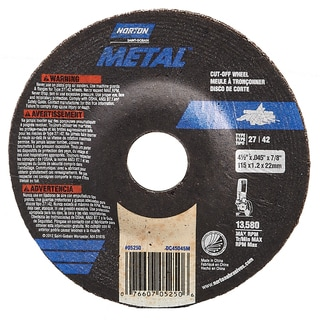 "Norton 43601 4.5"" X 1/8"" Grinding Wheel"
