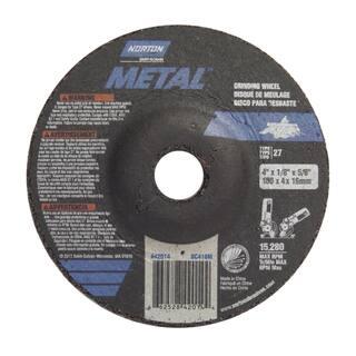 "Norton 42014 4"" X 1/8"" X 5/8"" Metal Grinding Wheel|https://ak1.ostkcdn.com/images/products/11642914/P18575440.jpg?impolicy=medium"
