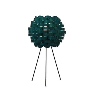 Bamboo Weave Carnation Sea Blue Lamp (Philippines)