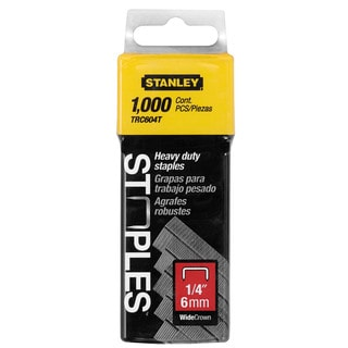 "Stanley Hand Tools TRC604T 1,000-count 1/4"" Wide Crown Heavy Duty Staples"