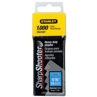 "Stanley Hand Tools TRA709T 9/16"" Sharp Shooter Narrow Crown H-D Staples 1,000-count"