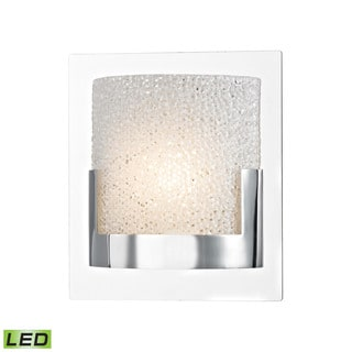 Alico Ophelia 1-light LED Vanity in Chrome and Clear Glass
