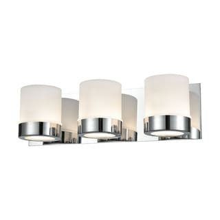 Alico Mulholland 3-light Vanity in Chrome and Opal Glass