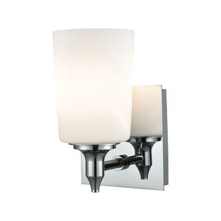 Alico Alton Road 1-light Vanity in Chrome and Opal Glass