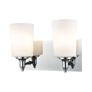 Alico Alton Road 2-light Vanity in Chrome and Opal Glass