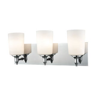 Alico Alton Road 3-light Vanity in Chrome and Opal Glass