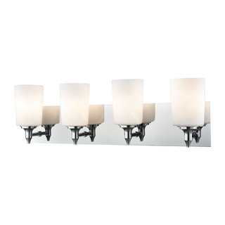 Alico Alton Road 4-light Vanity in Chrome and Opal Glass