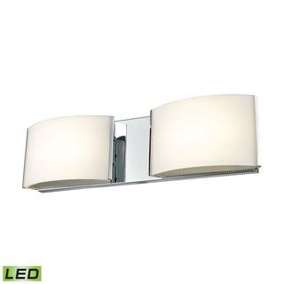 Alico Pandora LED 2-light LED Vanity in Chrome and Opal Glass