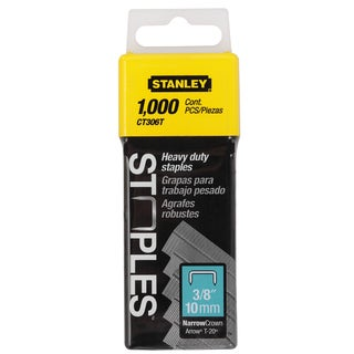 "Stanley Hand Tools CT306T 1,000-count 3/8"" Flat Narrow Crown Cable Staples"