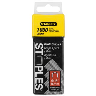 Stanley Hand Tools CT109T 1,000-count 9/16-inch Cable Staples.