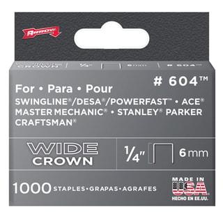 """Arrow Fastener 60430 1/4"""" Wide Crown Heavy Duty Staples"""