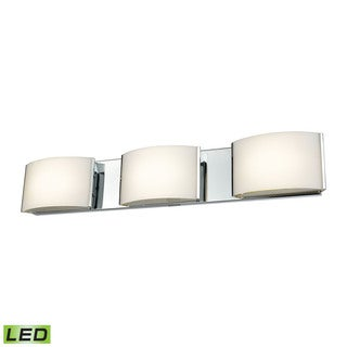 Alico Pandora LED 3-light LED Vanity in Chrome and Opal Glass