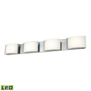 Alico Pandora LED 4-light LED Vanity in Chrome and Opal Glass