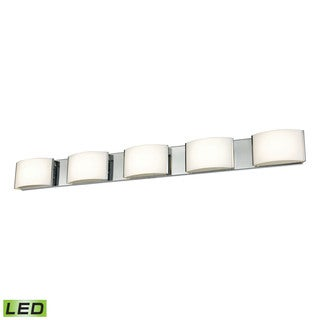 Alico Pandora LED 5-light LED Vanity in Chrome and Opal Glass