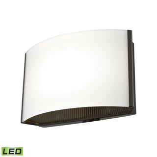Alico Pandora LED 1-light LED Vanity in Oiled Bronze and Opal Glass
