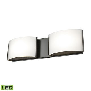 Alico Pandora LED 2-light LED Vanity in Oiled Bronze and Opal Glass