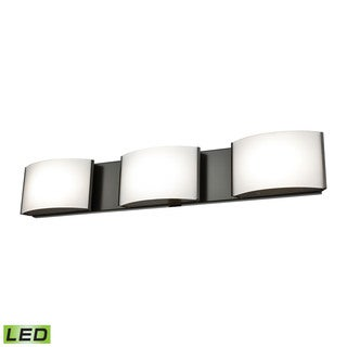 Alico Pandora LED 3-light LED Vanity in Oiled Bronze and Opal Glass