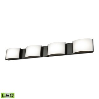 Alico Pandora LED 4-light LED Vanity in Oiled Bronze and Opal Glass