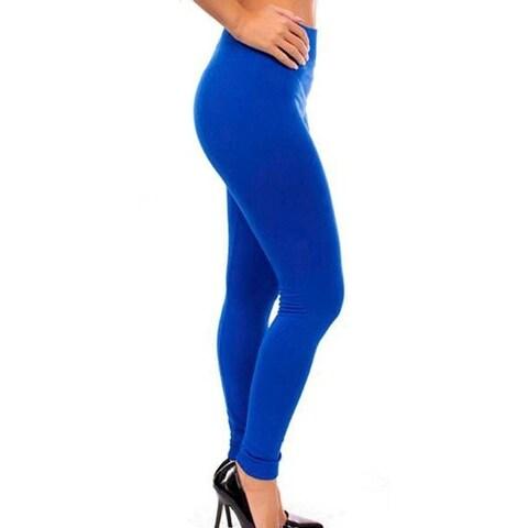 Imperial Home Super Comfy Blue/Red/Black Fleece Lined Leggings