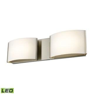 Alico Pandora LED 2-light LED Vanity in Satin Nickel and Opal Glass