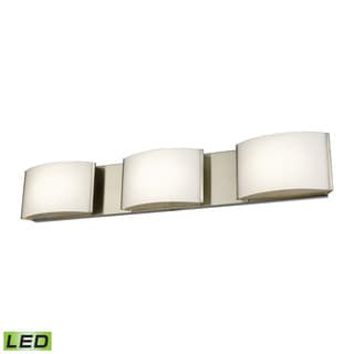 Alico Pandora LED 3-light LED Vanity in Satin Nickel and Opal Glass