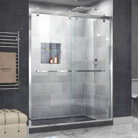 "DreamLine Cavalier 56-60 in. W x 77 3/8 in. H Frameless Bypass Sliding Shower Door - 56"" - 60"" W"