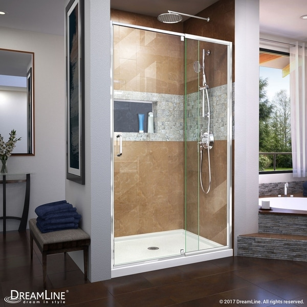 Shower Doors Dreamline Flex 44 48 In W X 72 H Semi Frameless