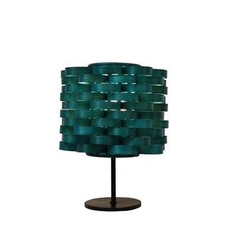 Bamboo Weave Cylinder Sea Blue Lamp (Philippines)
