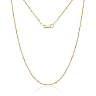 14k Yellow Gold 1.5mm Forsantina Chain Necklace (3 options available)