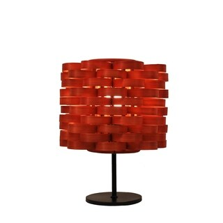 Bamboo Weave Cylinder Retro Orange Lamp (Philippines)
