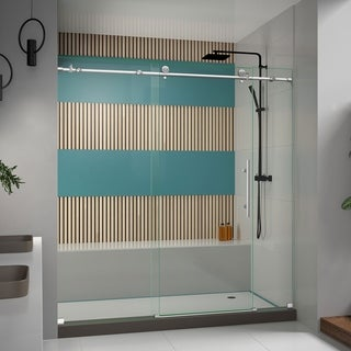 DreamLine Enigma-X 68-72 in. W x 76 in. H Fully Frameless Sliding Shower Door